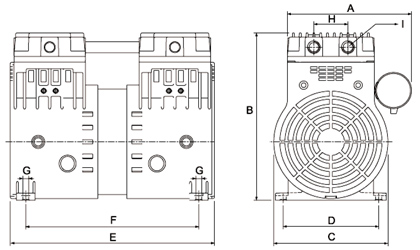 HP120C Dry Rotary Piston Compressor