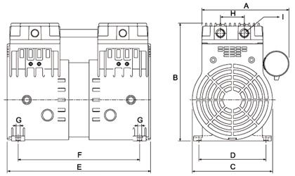 HP140VH Dry Rotary Piston Vacuum Pump