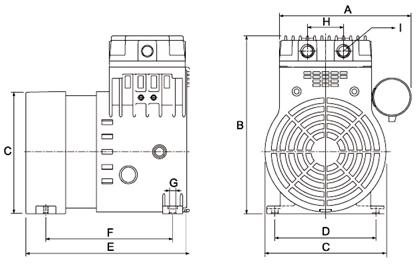 HP40C Dry Rotary Piston Compressor