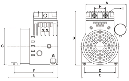 HP40V Dry Rotary Piston Vacuum Pump