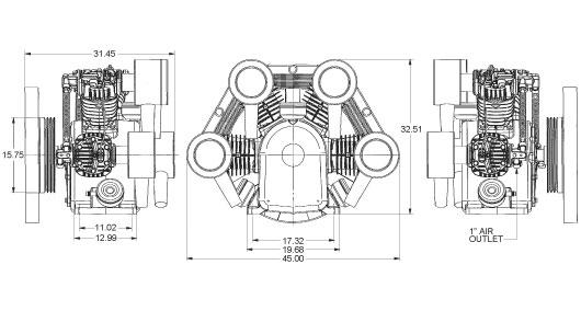 SDU-425 Dimensions (Inches)
